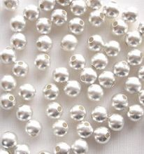 Silver Plated Beads 4mm Satin Round - 20